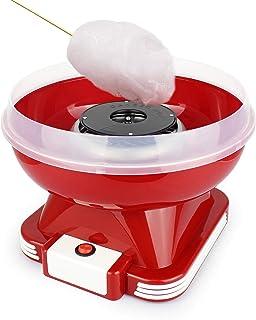 Leogreen - Machine à Barbe à Papa Electrique, Atelier à Barbe à Papa, Rouge, Matériau: PP, Type de sucre: Sucre en poudre