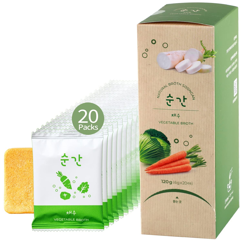 SOONGAN Vegetable Broth Cube 20 Packs Low - Gluten Fre Elegant Sodium Ranking TOP1