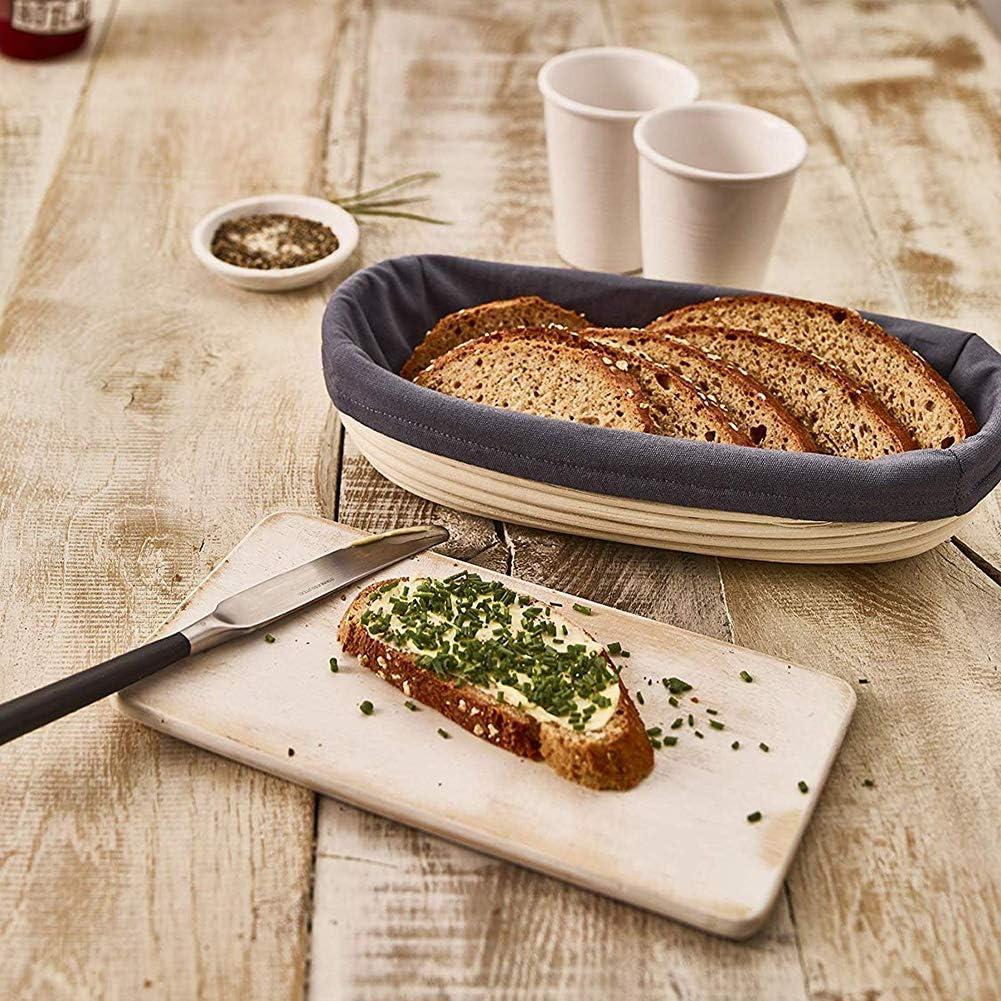 Naduew Cestini in Rattan per Pasta/,1/pz Cestini per/Pane Lungo/Cestini per lievitazione/Naturale in Rattan Cestini per Alimenti per panettieri Domestici Professionali