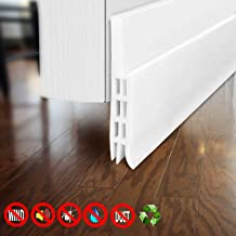 Door Draft Stopper for Exterior or Interior Doors, DBS001 Door Weather Stripping with 1mm Thick Strong Adhesive Waterproof Soundproof Door Bottom Seal (White)