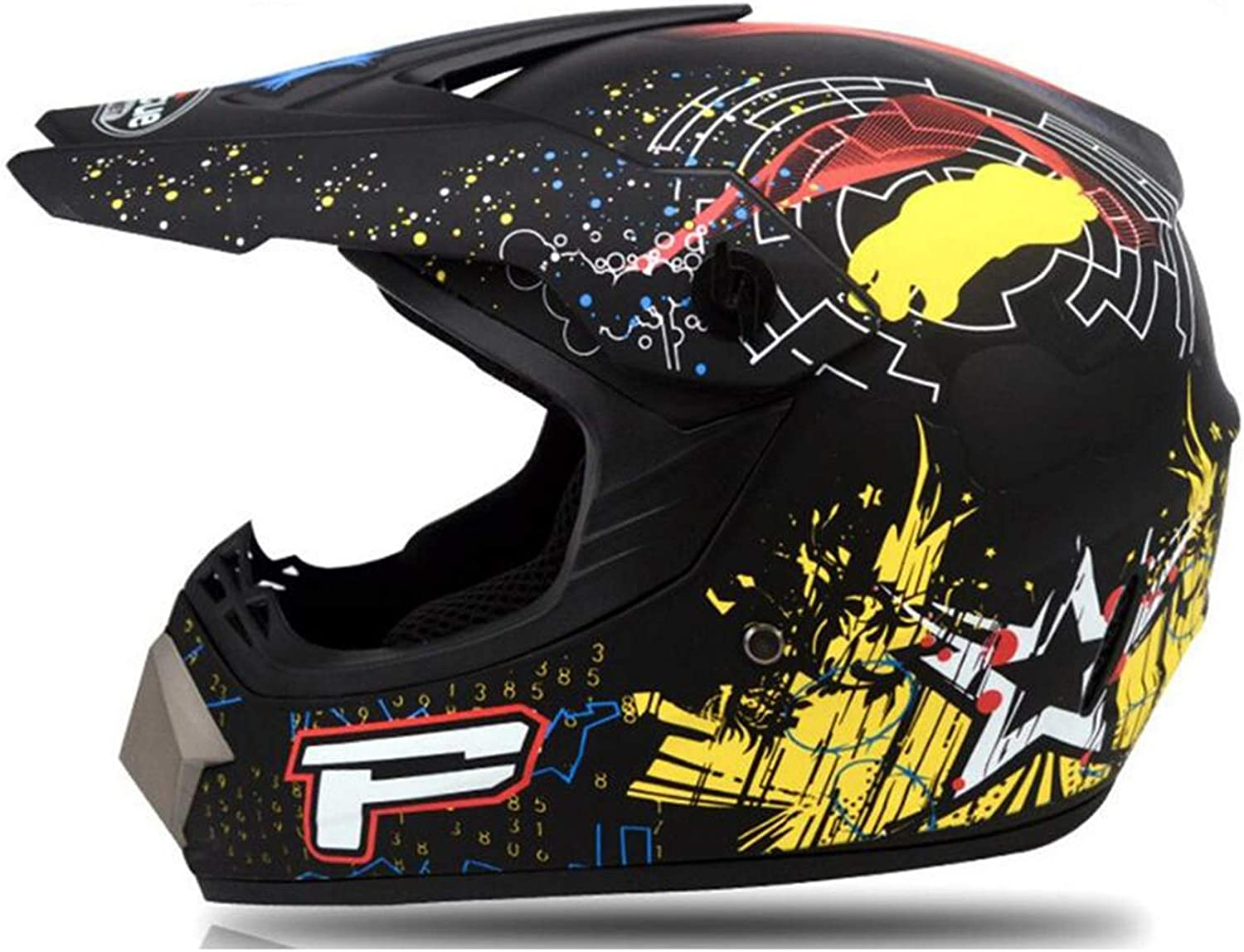 CHLDDHC Motocross Helmet Gloves Mask and Goggles Columbus Free shipping on posting reviews Mall DOT 4 of Set
