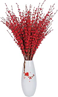 "Momkids 10 Pcs 29.5"" Long Stem Artificial Jasmine Flowers Fake Flower Bouquet Faux Jasmine Bouquet for Hotel Home Office K..."