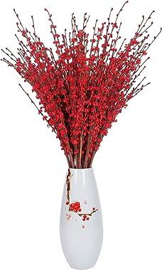 "Momkids 10 Pcs 29.5"" Long Stem Artificial Jasmine Flowers Tall Fake Flower Bouquet Faux Jasmine Plants for Hotel Home Office"