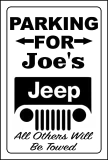 Anchor Graphix Jeep Parking Sign/Jeep Sign Personalize Name Free 8x12