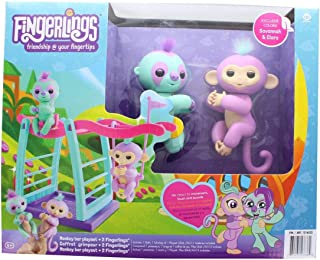 Fingerlings Monkey Bar Playset w/ 2 Fingerlings - Savannah