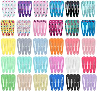 120 Pcs Hair Clips, Anezus Hair Barrettes Colorful Snap Clip Hair Accessories for Baby, Women, Girls, Toddler