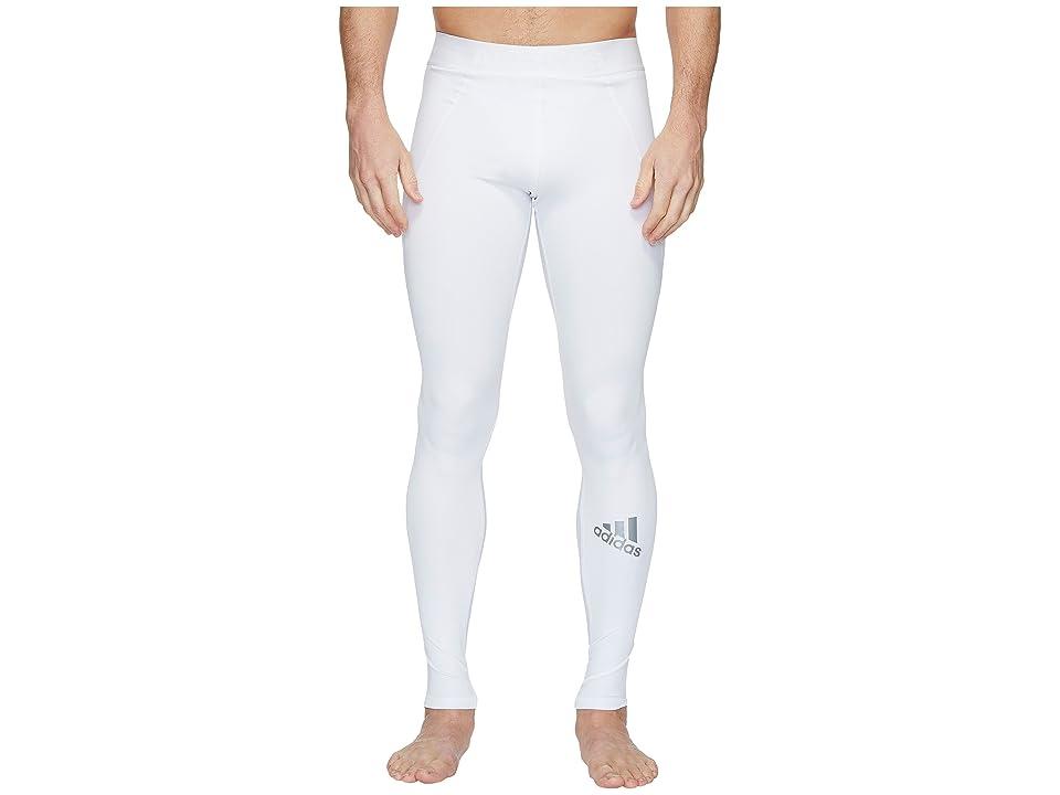 adidas Alphaskin Sport Long Tights (White) Men