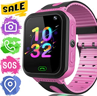 "Kids Smart Watch Phone GPS Tracker for Boys Girls with 1.44""Touch Screen SOS Call Game Camera Flashlight Fitness Tracker Anti-Lost Alarm Clock Smartwatch Wristband Outdoor Learning Toys Birthday Gifts"