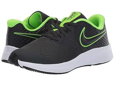 Nike Kids Star Runner 2 (Big Kid) (Grey/Volt) Boys Shoes