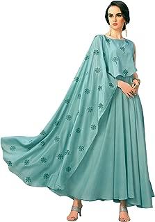 Womens Anarkali Style Silk Kurtis Indian Kurta Tunic top