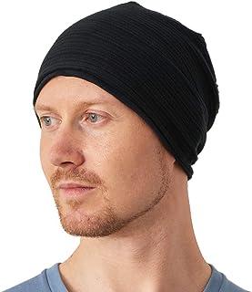 CHARM Slouchy 100% Organic Cotton Knit Beanie - Soft Summer Stripe Chemo Hat Cap