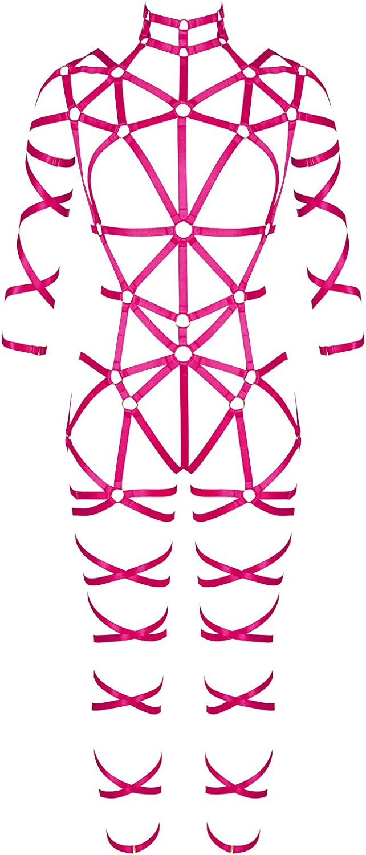 Full body harness for women Garter belt set Halloween Gothic Punk Bra strap Festival rave Plus size Lingerie cage