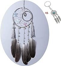 AWAYTR Forest Dreamcatcher Gift Handmade Dream Catcher Net with Feathers Wall Hanging Decoration Ornament (Butterfly Dream Catcher)