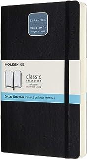 モレスキン クラシック ノートブック エクスパンデッド(400ページ) ソフトカバー ラージサイズ ブラック ドット方眼 QP619EXP