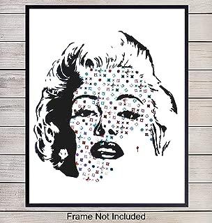 Marilyn Monroe Graffiti Wall Art, 8x10 Photo Poster - Pop Art Home Decor - Andy Warhol Style Fashion Art Print - Room Decorations and Gift for Street Art, Fashionista, Fashion Fans - Unframed