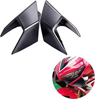 PSLER Motorcycle Fairing Winglets for Honda CBR650R 2019 2020 CBR1000RR 2019 2020 (Black)