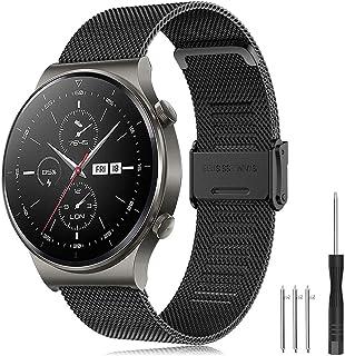 Yaspark Rem Huawei Watch GT2 Pro 46 mm/Galaxy-klocka 3 45 mm/Galaxy-klocka 46 mm/Gear S3 band band rostfritt stål armband ...