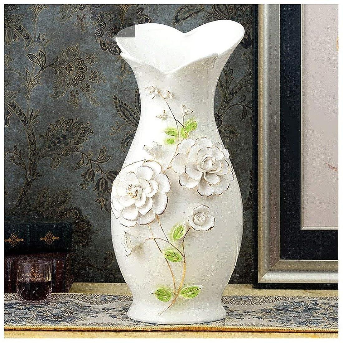 バウンド腐ったパケット花瓶 ヨーロッパセラミック花瓶オフィスデスクトップ装飾リビングルームテレビキャビネットシンプルなファッション装飾テーブルクラフト (Color : A)