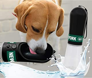DOG Water Bottle. NFL NEW YORK JETS PET WATER BOTTLE. BEST Cat Water Bottle. Water Fountain Dispenser for DOGS & CATS.