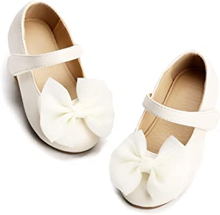 beige flower girl shoes