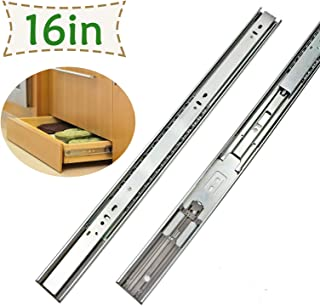 LONTAN Drawer Slides 16 Inch 5 Pairs - SL4502S3-16 Soft Close Drawer Slides 16 Ball Bearing and Heavy Duty Drawer Slides Full Extension 100lb Capacity