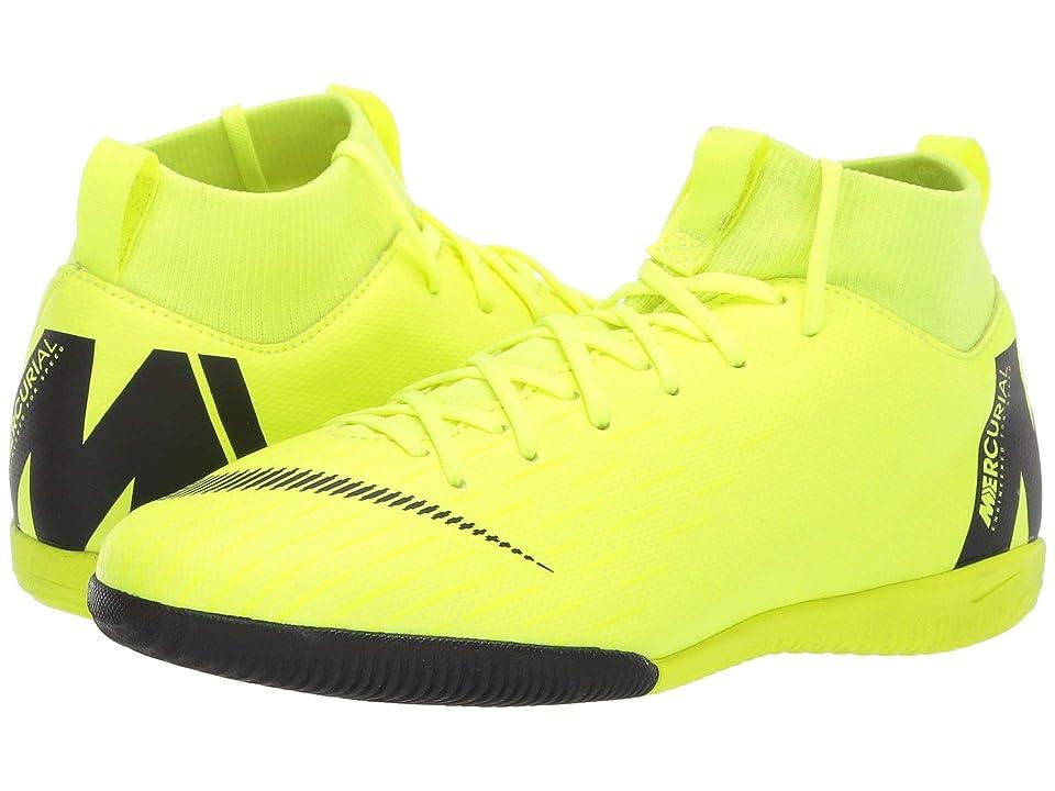Nike Kids SuperflyX 6 Academy IC Soccer (Little Kid/Big Kid) (Volt/Black) Kids Shoes