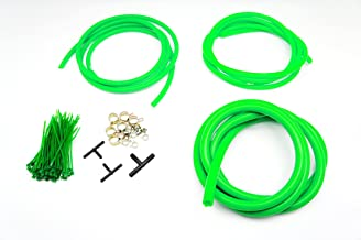 Autobahn88 Engine Room Silicone Vacuum Hose Dress Up DIY Kit, Fit All Models of Honda (Green)