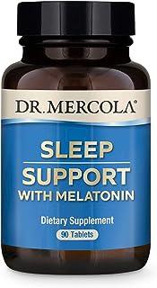 Dr. Mercola Melatonin Sleep Support 90 Servings (90 Tablets), Non GMO, Gluten Free, Soy Free