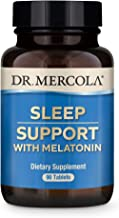 Dr. Mercola Melatonin Sleep Support 90 Servings (90 Tablets), Supports Overall Sleep Quality, Non GMO, Soy Free, Gluten Free