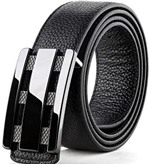 HEMFV Belts for Men Cowhide Leather Dress Belt Comfort Pin Buckle (Size : 110cm)