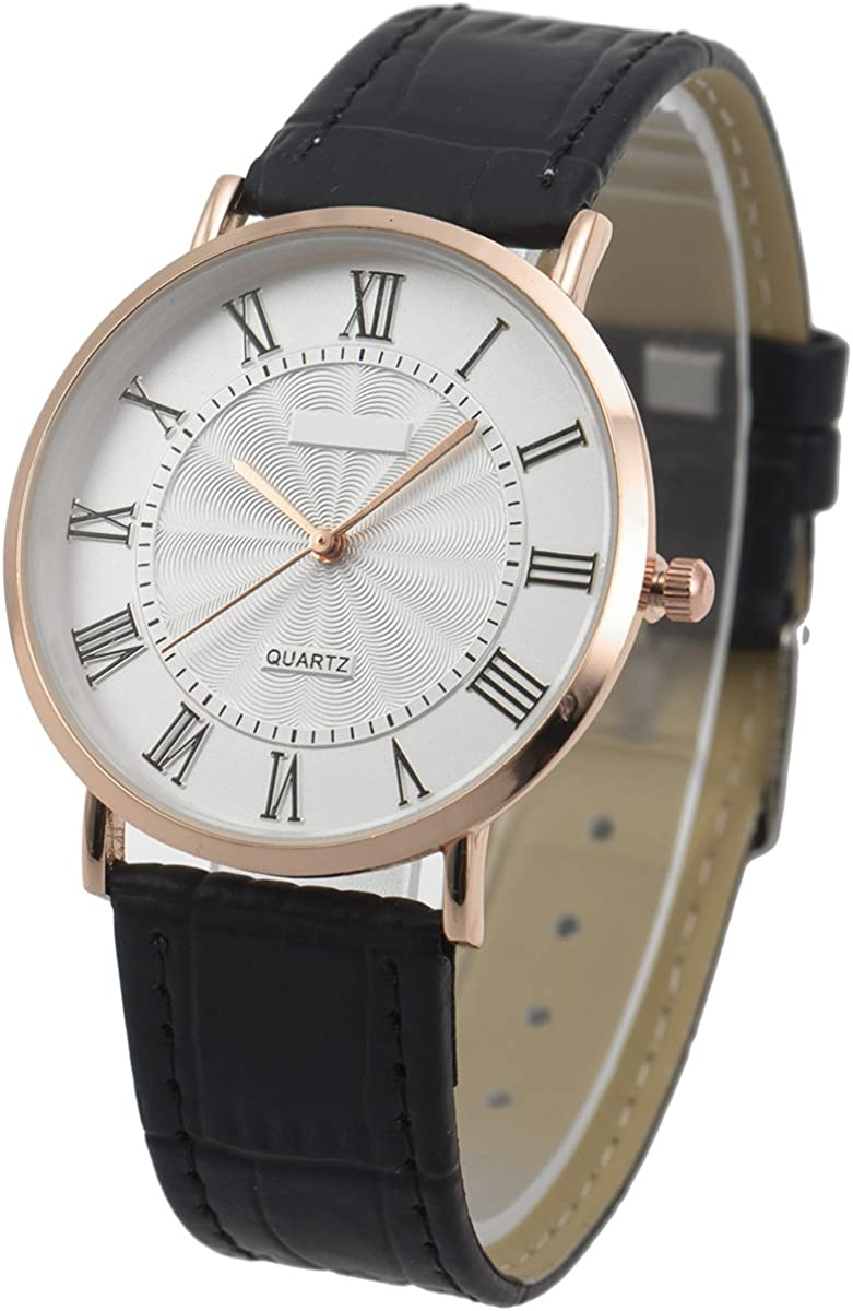 Wrist Watch Excellent Ultra-Thin Mens Minimalist Quartz Special sale item St Leather SIBOSUN