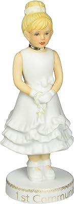 "Enesco Growing Up Girls ""Blonde First Communion"" Porcelain Figurine, 5"""