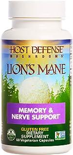 Host Defense, Lion's Mane Capsules, Promotes Mental Clarity, Focus and Memory, Daily Mushroom Supplement, Vegan, Organic, ...