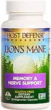 Host Defense, Lion's Mane Capsules, Promotes Mental Clarity, Focus and Memory, Daily Mushroom Supplement, Vegan, Organic, Gluten Free, 60 capsules (30 servings)