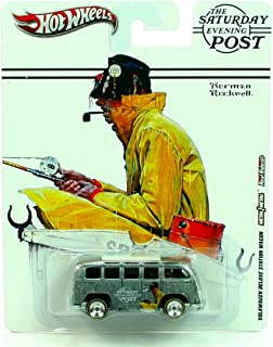 HOT WHEELS * Norman Rockwell * The Saturday Evening Post * Volkswagen Deluxe Station Wagon * VW Bus * Metal/Metal w/ Real ...