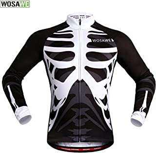 WOSAWE Mens Breathable Short Sleeve Cycling Jersey Padded Shorts Quick Dry