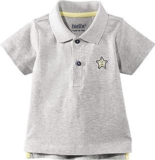 Kanz T-Shirt langarm Langarmshirt Grau meliert 100/% Baumwolle Unisex Gr 74