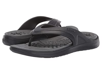 Crocs Reviva Flip (Black/Slate Grey) Sandals