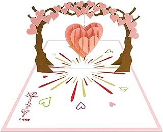Ninrio 3D Card - Pack of 3 PCS - Love Tree 3D Card, Valentine 3D Card, Thank you Card, Birthday Card, Pop up Card, Wedding 3D Card, Thank You Card, Invitation Card, 3D Card(3)