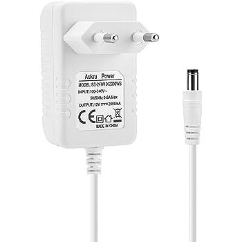 Aukru 12v2a Ladegerät Netzteil für Externe Festplatte, TFT Monitor, Power Supply Radiowecker, LCD, LED Streifen, Fritzbox, AVM Fritz!Box, TP Link,