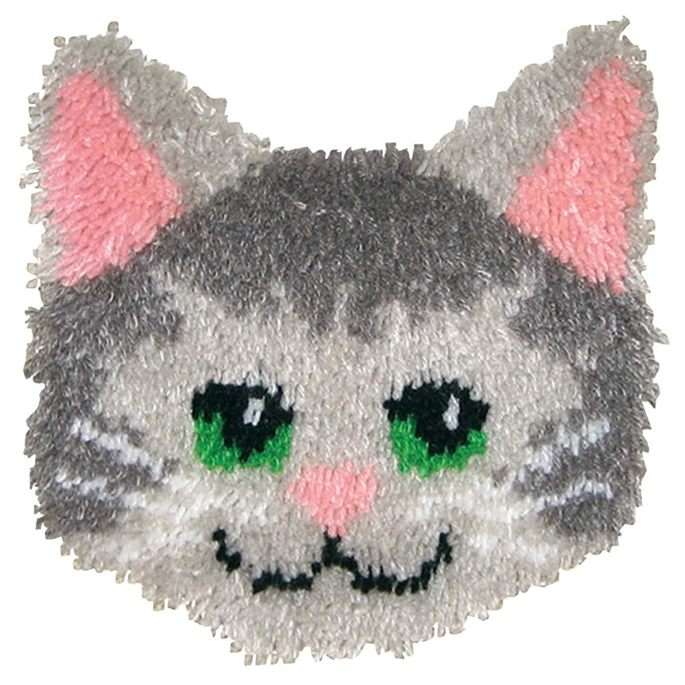 MCG Textiles Huggables Animal Kitty Pillow Latch Hook Kit