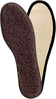 Lambswool Winter Insoles for Boots Or Shoes, Insole Replacement for Man and Woman, Lambskin Inner Soles, Shoe Inserts Accessories, by Kaps (Women/US 7/38 EUR)