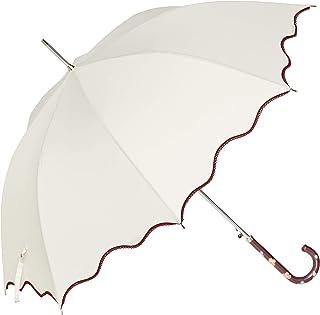 [オーロラ] AURORA ヴィ・クチュリエ 波型ロック・ピコレース加工ジャンプ長傘(手元花刺繍) 1CU11024-86 レディース 日本 親骨 60㎝ グラスファイバー (FREE サイズ)