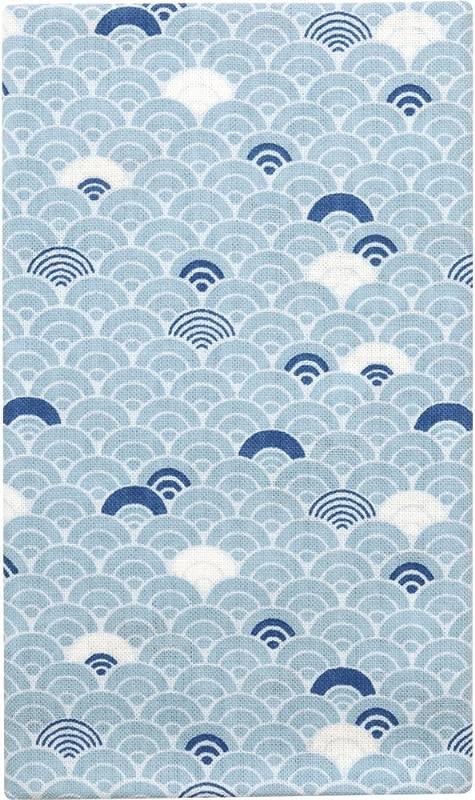HAMAMONYO Tenugui Cool Seigaiha Pattern