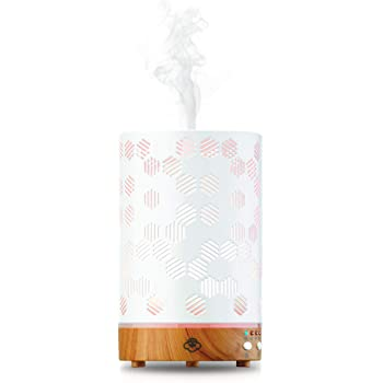 Serene House Ultrasonic Aroma Diffuser Scentilizer Honeycomb Light Wood