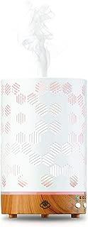 Serene House Ultrasonic Aroma Diffuser Scentilizer Honeycomb Light Wood