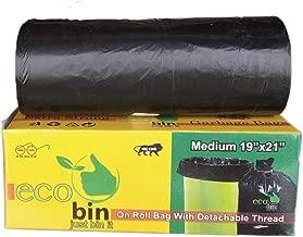 Eco bin Dustbin Bags Biodegradable For Kitchen, Office, Medium Size (Black, 48cmx56cm, 60 Bag)(Garbage Bags/Trash bags)