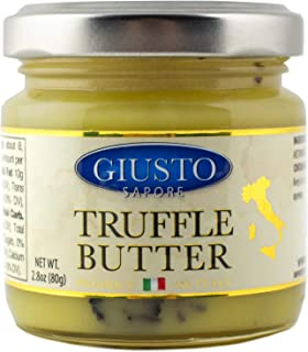 Giusto Sapore Italian Truffle Butter 2.8 oz - Premium Gourmet Butter - Imported from Italy and Family Owned
