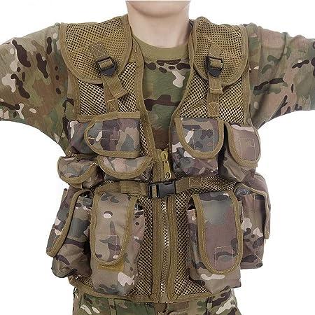 Highlander Boys Junior Polyester Dress Up Soldier Assault Vest