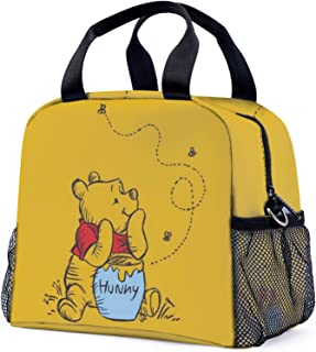 Winnie The Pooh Light Blue Lunch Box Lunch Bag and Adjustable Strap Insulated